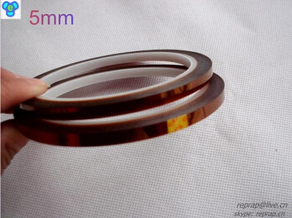 Free shipping 5mm 3D Printer High temperature polyimide tape