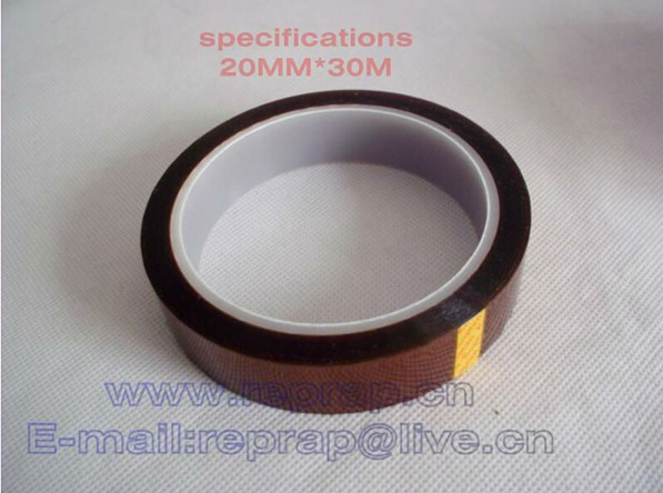 Free shipping 20mm 3D Printer High temperature polyimide tape