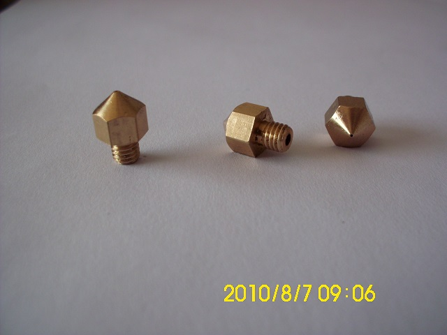 Reprappro Mendel Huxley3D printer pure copper nozzle