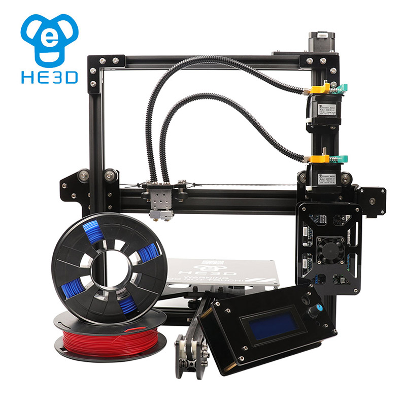 He3D prusa ei3 dual full metal extruder 3d printer kit