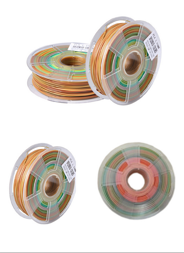 Magic multicolor 3D printing filament