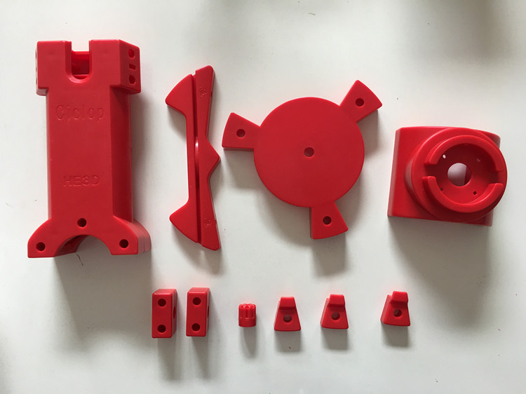 ciclop 3d scanner red injection molding parts 11pcs
