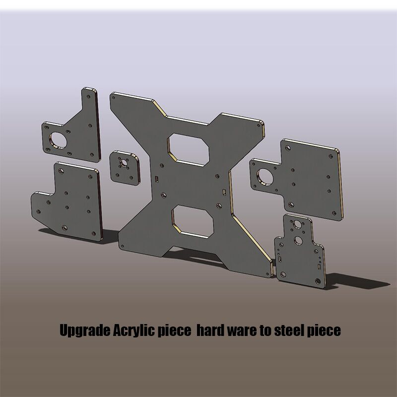 Steel plate upgrade parts for HE3D EI3 3D printer