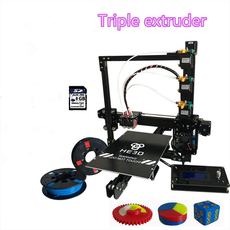he3d prusa EI3 triple 3D printer kit-Multi material support